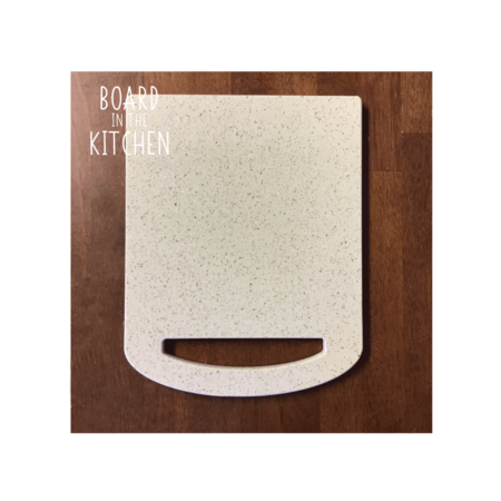 Corian Cutting Board with Rounded Handel Design, Now Available in 3 Sizes
