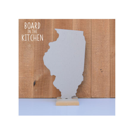 ILLINOIS Cutting Board, Safe Corian Cutting Board, Land of Lincoln